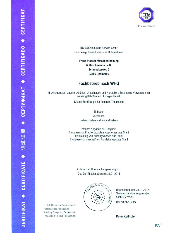 Zertifikate   Metallbau Stocker - Home
